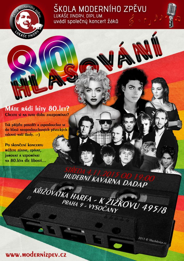 Plakát Škola moderního zpěvu