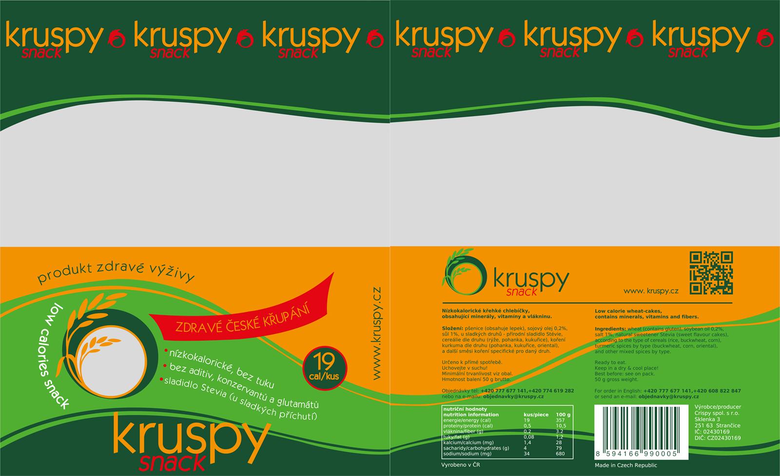 Obal na produkt Kruspy